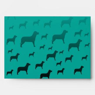 Blacks dogs pattern envelope