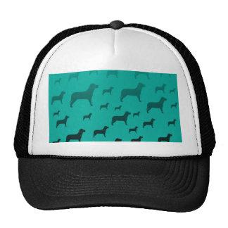 Blacks dogs pattern mesh hats