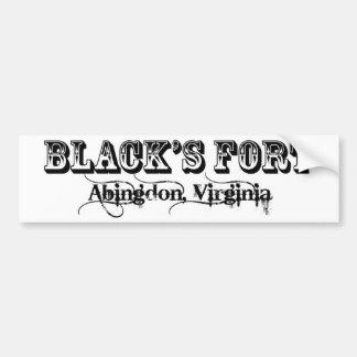 Blacks fort bumper sticker