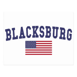 Blacksburg US Flag Postcard