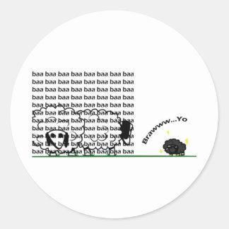 blacksheep classic round sticker