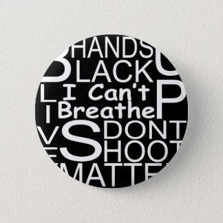 blackshirtwhiteonblack pinback button