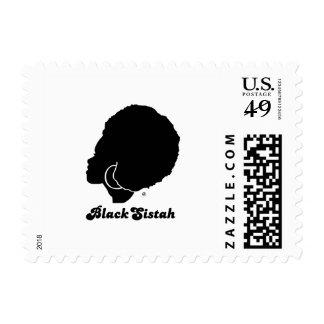 BlackSistah Postage Stamp