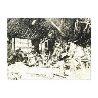 Blacksmith 1880 canvas print