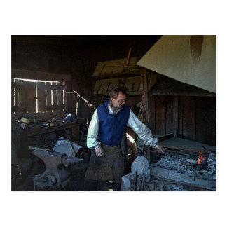 Blacksmith at Fort Osage Fort, Missouri Postcard