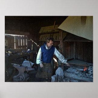 Blacksmith at Fort Osage Fort, Missouri Print