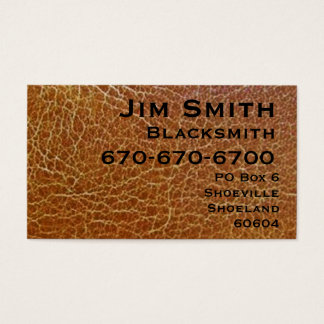 Blacksmith Business Card