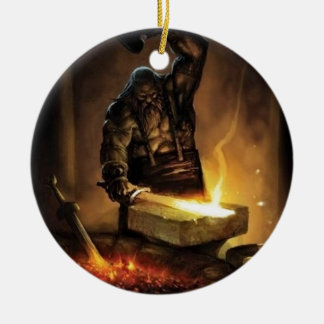 Blacksmith Ceramic Ornament