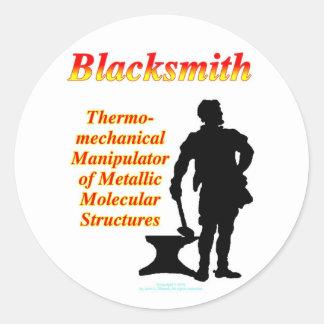 Blacksmith Classic Round Sticker