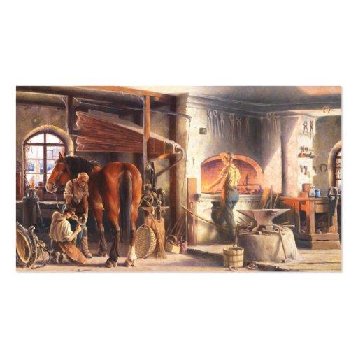 Blacksmith Business Cards Bizcardstudio