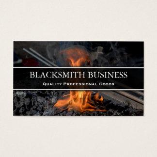 Blacksmith Forge Photo Business Card