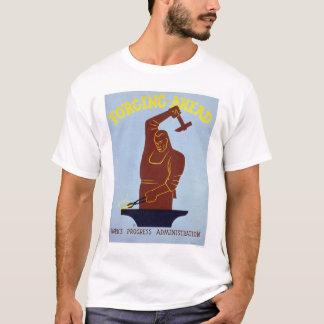 Blacksmith Forging 1940 WPA T-Shirt