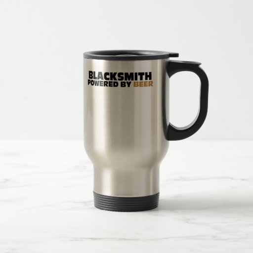 Blacksmith Powered By Beer Travel Mug