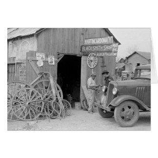 Blacksmith Shop, 1939 Card