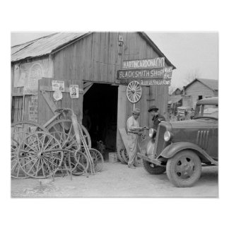 Blacksmith Shop, 1939 Poster