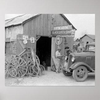 Blacksmith Shop, 1939. Vintage Photo Poster