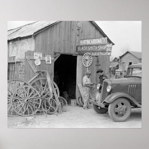 Blacksmith shop 1939 vintage photo poster zazzle for Smith motor company wv
