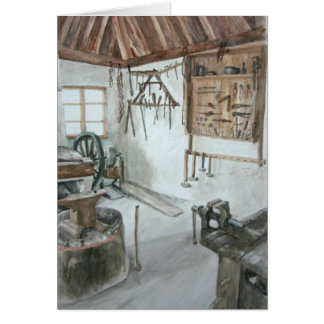 Blacksmith Shop Card