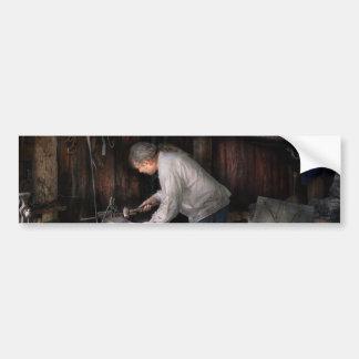 Blacksmith - Tinkering with metal Car Bumper Sticker