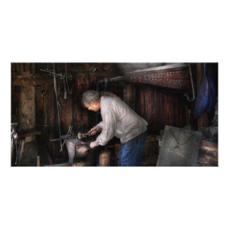 Blacksmith - Tinkering with metal Custom Photo Card