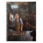 Blacksmith - Working the forge Spiral Note Book