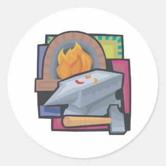 Blacksmithing Classic Round Sticker