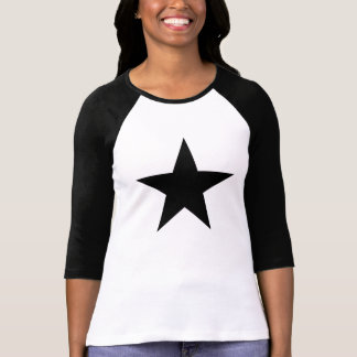 Blackstar Raglan T-Shirt, White/Black T-Shirt