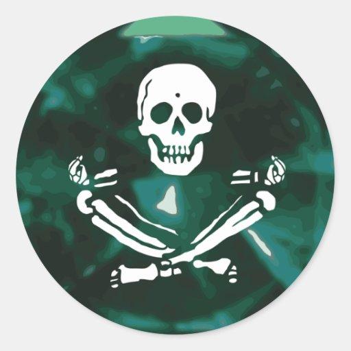 BlackStitch-Emerald Round Round Sticker