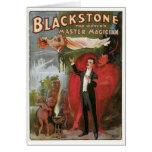 Blackstone ~ Master Magician Vintage Magic Act Card