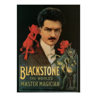 Blackstone ~ Master Magician Vintage Magic Act Poster