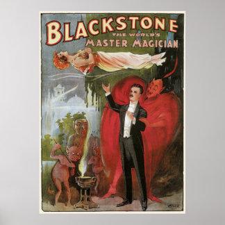 Blackstone, The World's Master Magician, 1934 Print