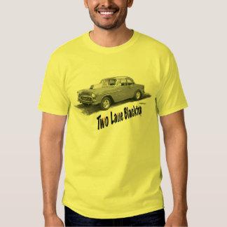 Blacktop de dos calles '55 Chevy del COCHE de la Camisas
