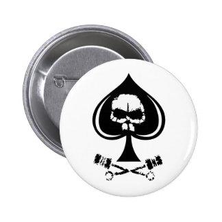 BlackTop EaterZ Badge White Pin Redondo De 2 Pulgadas