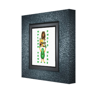 Blacktop illusion photo border canvas wrapped gallery wrapped canvas