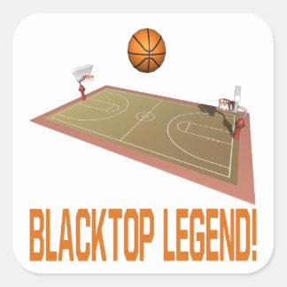 Blacktop Legend Square Sticker