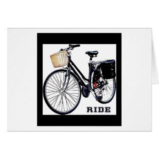 BlackVintage Bike Ride Card
