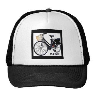 BlackVintage Bike Ride Mesh Hats