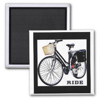 BlackVintage Bike Ride Magnet