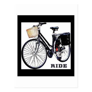 BlackVintage Bike Ride Postcard