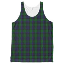 Blackwatch Tartan All-Over-Print Tank Top
