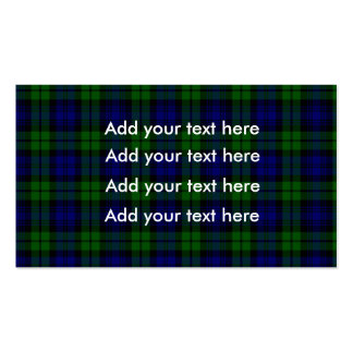 Blackwatch tartan Campbell clan Double-Sided Standard Business Cards (Pack Of 100)