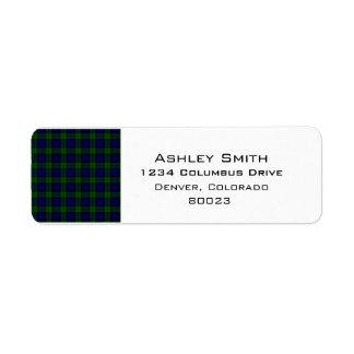 Blackwatch tartan Campbell clan Label
