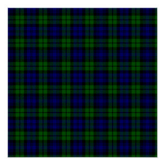 Blackwatch tartan Campbell clan Poster