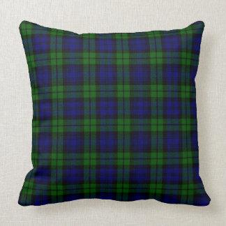 Blackwatch tartan Campbell clan Throw Pillow