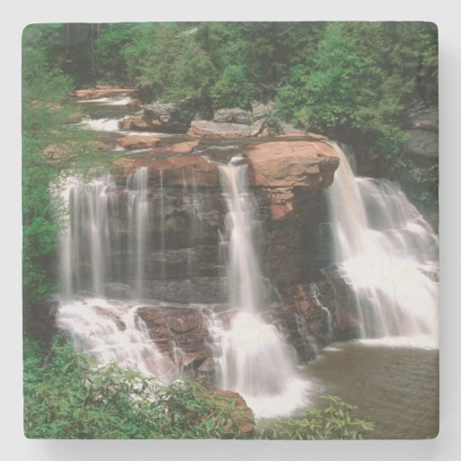 Blackwater Falls, West Virginia, scenic, Stone Beverage Coaster