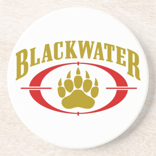 Blackwater USA Gold Beverage Coaster