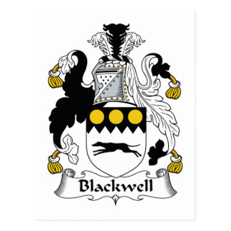 Blackwell Family Crest Postcard