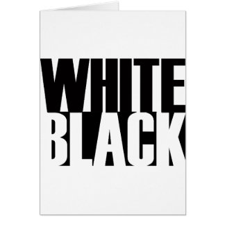 BlackWhite Greeting Card