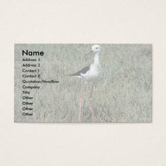 Blackwinger Stilt Business Card