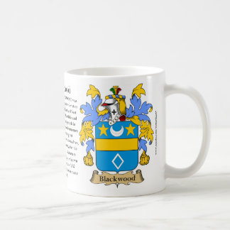 Blackwood, the Origin, the Meaning and the Crest Coffee Mug